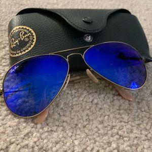 Ray ban purple/blue shades sunglasses